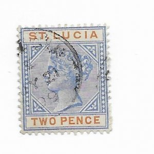 St. Lucia #30 Used - Stamp - CAT VALUE $1.25