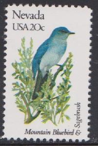 1980 Nevada Birds and Flowers F-VF MNH single