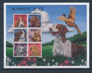 Sierra Leone MNH S/S Domestic Dogs Large Size 6 Stamps