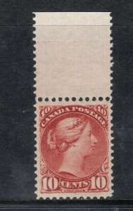 Canada #45 Extra fine Never Hinged Top Margin Example **With Certificate**