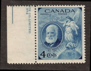 CANADA - A.G.Bell 4c partial Plate Mint NH SC274 1947