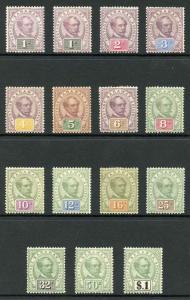 Sarawak SG8/21 1888 Set of 14 M/Mint