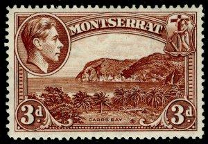 MONTSERRAT SG106a, 3d red-brown, VLH MINT. PERF 14