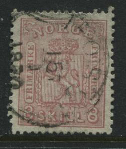 Norway 1867 8 skillings rose used