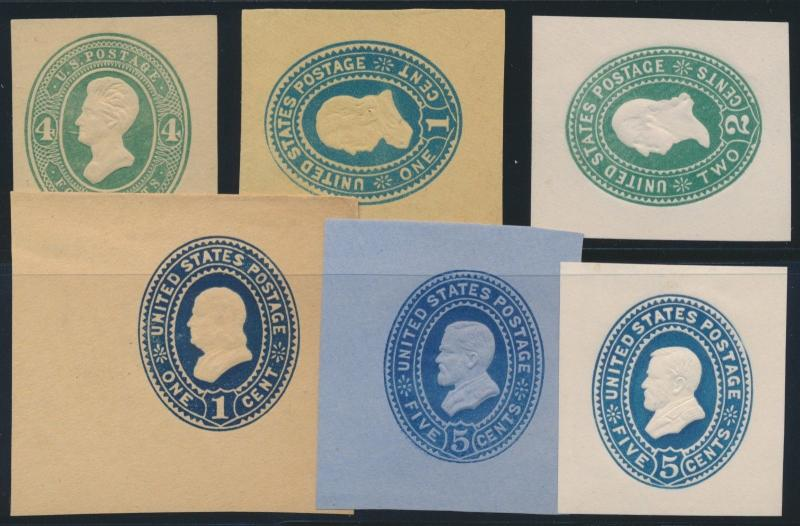 #U258 // #U334 (6) DIFFERENT UNUSED CUT SQUARES CV $104.00 BR362