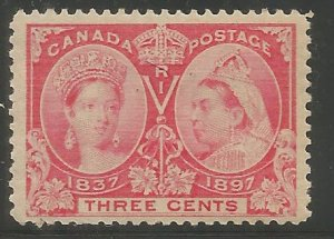 CANADA 53 HINGED, 60TH ANNIVERSARY OF REIGN OF QUEEN VICTORIA