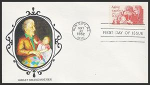 US FDC #2011 20c Aging Together - New Direxions Cachet
