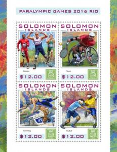 SOLOMON ISLANDS 2016 SHEET PARALYMPIC GAMES SPORTS slm16424a