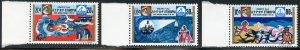 Ethiopia Scott 640-42 Unused VFHOG - 1973 Anti-Pollution Campaign - SCV $3.35