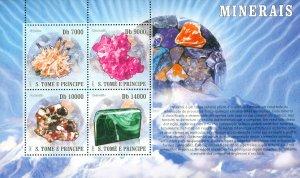 ST THOMAS & PRINCE ISLANDS 1724 MH SS SCV $6.00 BIN $3.00 MINERALS