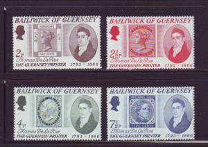 Guernsey Sc 56-9 1971 de la Rue Printer stamps NH