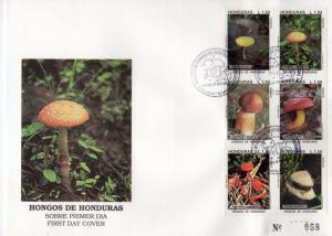 Honduras 1995 Sc#C951 MUSHROOMS Set (30) in 5 FDC