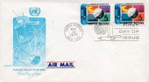 United Nations, First Day Cover, Space