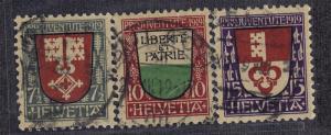 SWITZERLAND #B12-B14 CV $35.00 item #A43