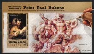 SIERRA LEONE 2015 375h MEMORIAL ANNIVERSARY OF PETER PAUL RUBENS  S/S  MINT NH