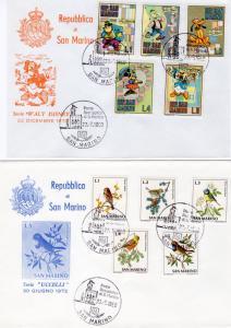 San Marino 1980 Disney/Birds/Flowers 3 Covers Special Postmark Stamp Exhibition