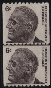 Scott 1298 6c Franklin D. Roosevelt Line Pair NH