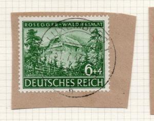 1944-45 GERMANY used in LUXEMBOURG Fine Used 6p. Postmark Piece 241832