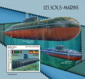 DJIBUTI - 2019 - Submarines - Perf Souv Sheet - MNH