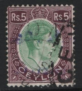 CEYLON, 289, USED, 1938-52, George VI