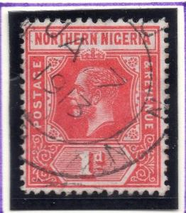 Northern Nigeria 1912 Early Issue Fine Used 1d. 055586