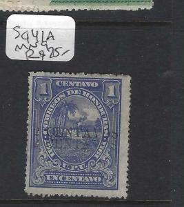 HONDURAS  (PP1702B)  1C  SC 141A  DOUBLE OVPT  MNG  SCARCE