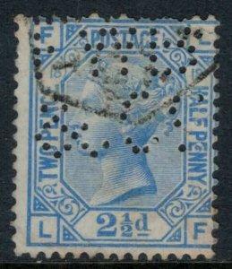 Great Britain #68 Plate #18 perfins  CV $45.00