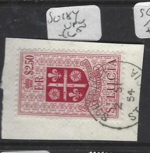 ST LUCIA  (P2905B)   QEII  $2.50  SG 184 SON CDS PIECE   VFU