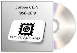 Europa CEPT 1956-2019 (3 albums) PDF STAMP ALBUM PAGES