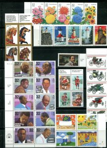 US 1995 Commemorative Year Set 109 stamps including 2 Sheets, Mint NH, see scans