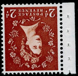 SG573Wi, 2d light red-brown, NH MINT. Cat £140. WMK MULTIPLE. WMK INV