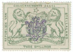 (I.B) Stellaland (Bechuanaland) Revenue : Duty Stamp 2/-
