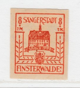 Finsterwalde WWII Germany World War II Local Stamp 1946 8+7pf MNH** A20P4F179