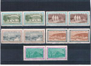 Panama 419;421;C207-09 MNG pairs Worlds Fair Brussels 1958 (P0306)