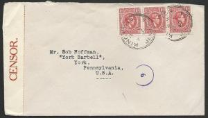 JAMAICA 1940 censor cover Kingston to USA..................................48621