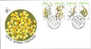 South West Africa, Plants, Flowers, Worldwide First Day Cover