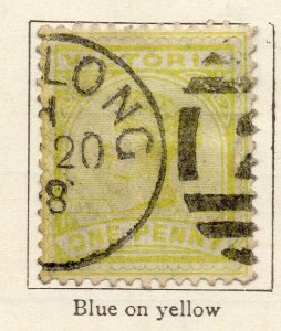 Victoria 1885 Early Issue Fine Used 1d. NW-11573