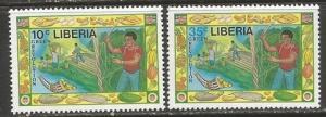 LIBERIA 1077-78 MNH E970-1