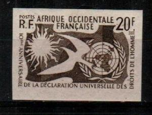 French West Africa Scott 85 Mint hinged (imperf brown proof)