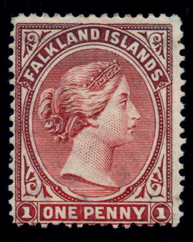 VINTAGE: FALKLAND ISLANDS 1894 OGLH SCOTT # 5 $ 130 LOT # FLK1894ABC