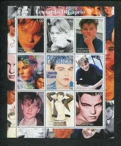 Tajikistan Commemorative Souvenir Stamp Sheet - Actor Leonardo DiCaprio
