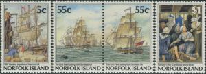 Norfolk Island 1987 SG421-424 Settlement 3rd issue set MNH