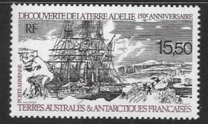 FRENCH SOUTHERN & ANTARCTIC TERRITORIES SG267 1990 DISCOVERY OF ADELIE ISLE MNH