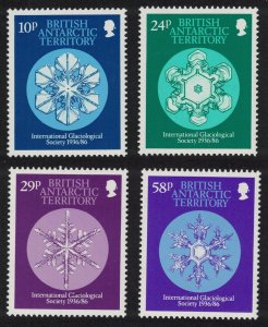 BAT 50th Anniversary of International Glaciological Society Snow Crystals 4v