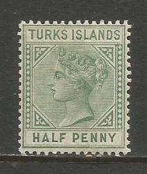 Turks Isl.    #48  MVLH  (1885)  c.v. $6.50