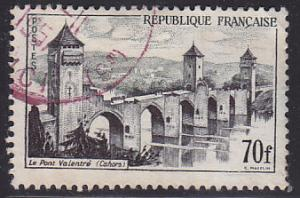 France 839 Hinged Used 1957 Valentre Bridge, Cabors