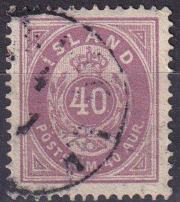 Iceland #18 F-VF Used CV $47.50 (K2931)