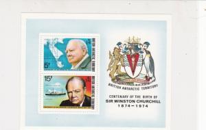 British Antarctic Territory 1974 Sir Winston Churchill MNH Stamps Sheet Ref27125