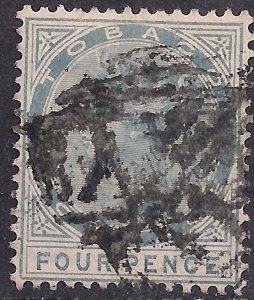 Tobago 1885 - 96 QV 4d Grey used SG 22 ( C68 )