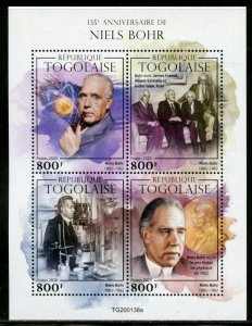 TOGO 2020  135th BIRTH ANNIVERSARY OF NEILS BOHR SHEET MINT NEVER HINGED